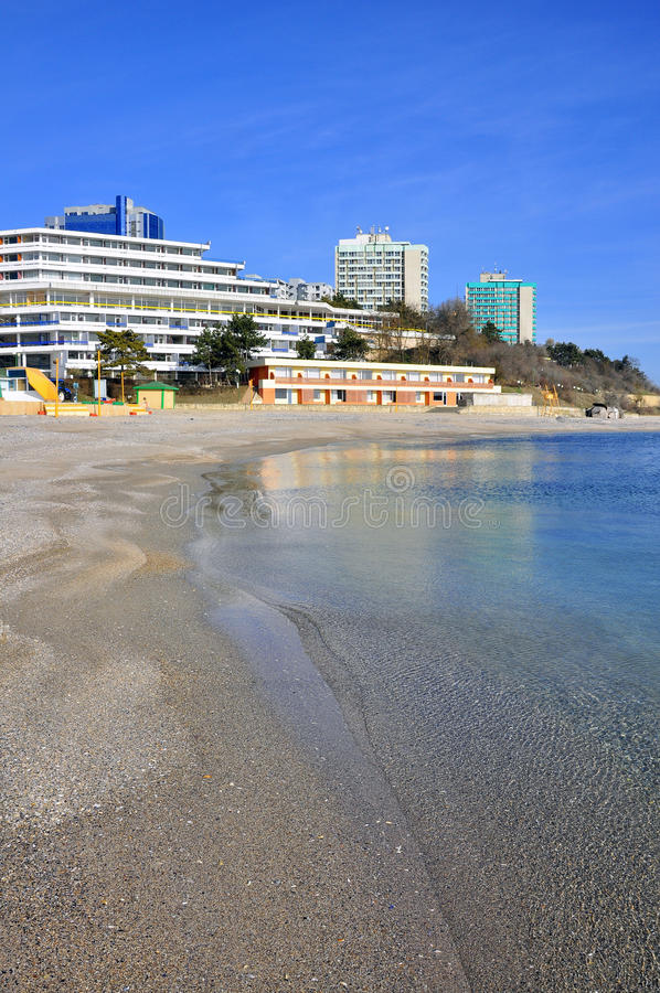 Download Seashore hotels stock image. Image of blue, accommodation - 18204219