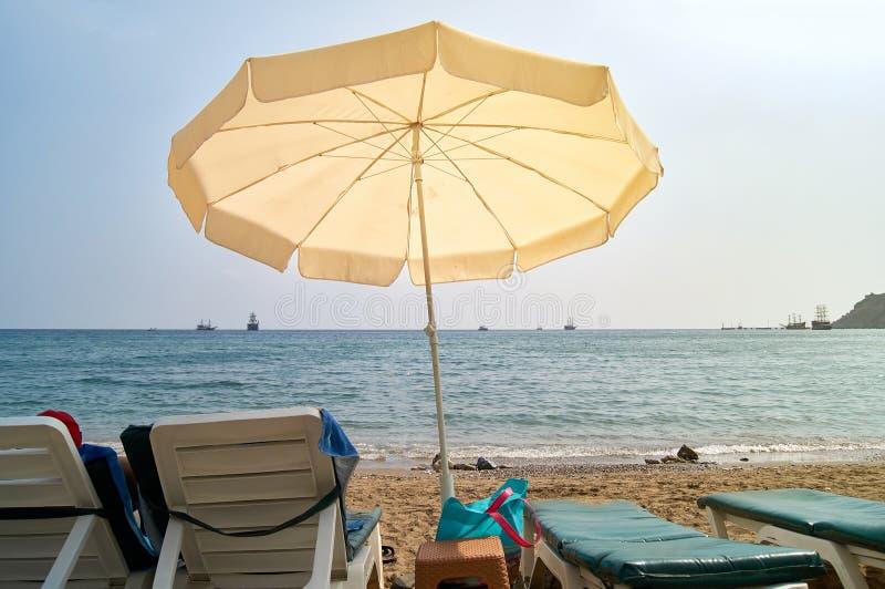 The seashore on the Kleopatra beach. Turkey, Alanya. Relaxing Holiday by the sea stock image