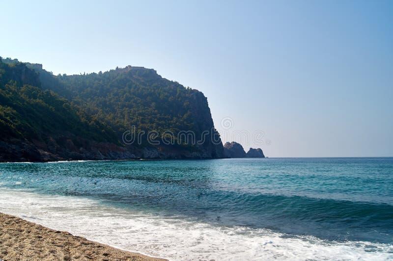 The seashore on the Kleopatra beach. Turkey, Alanya. Relaxing Holiday by the sea stock photo