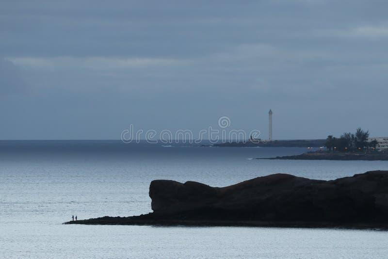 Seashore of Lanzarote, Canary Islands, Spain stock photography