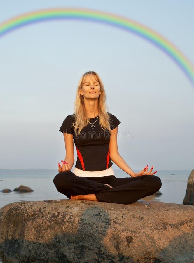 seashore medytacji und obrazy stock