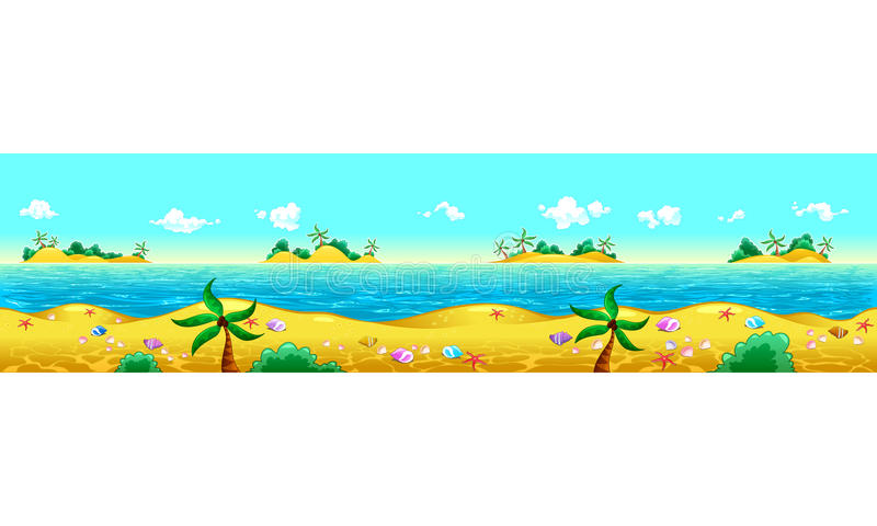 Seashore and ocean. royalty free illustration