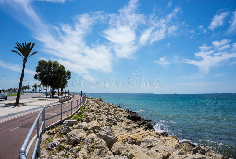 Seashore in Palma de Mallorca royalty free stock images