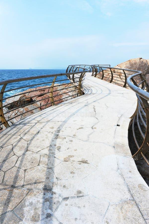 Download Seashore plank road stock image. Image of broken, railing - 25997083