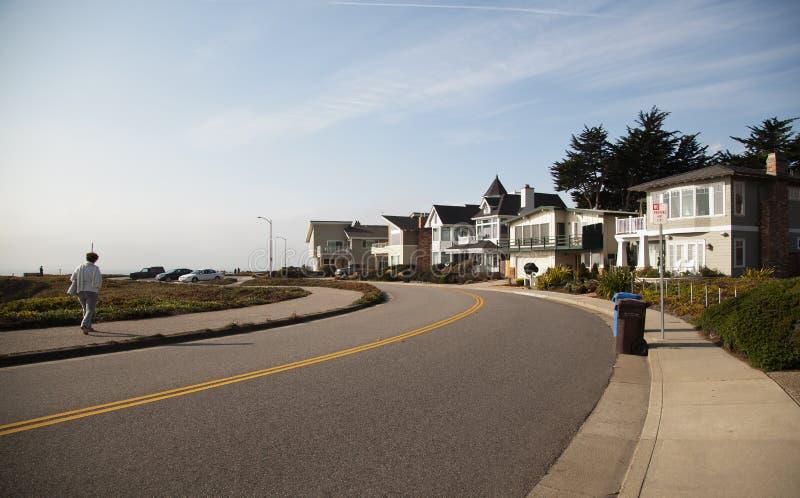 Seashore in Santa Cruz, California stock photography