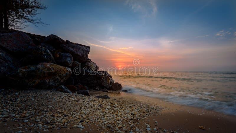 Seashore during Sunset Photography stock image