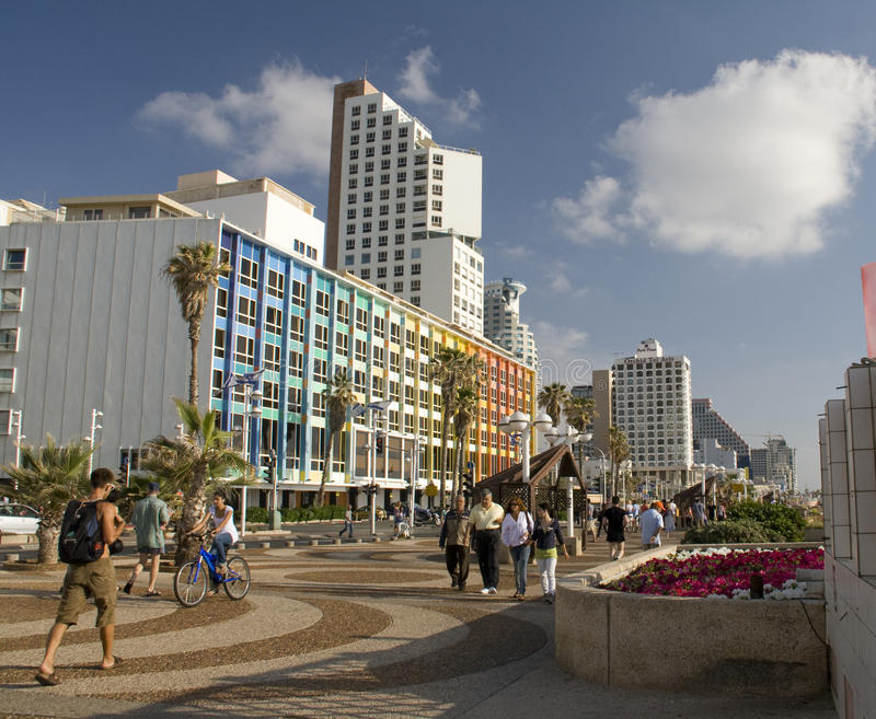 Seashore in Tel-Aviv royalty free stock photography