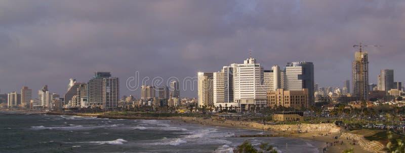 Seashore in Tel-Aviv royalty free stock photo