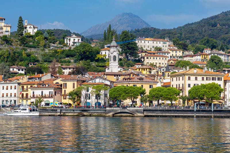 Seashore Wiev, nature and city wives at Lake Como stock images