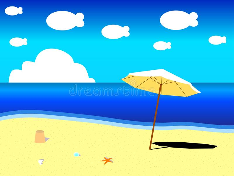 Download Seaside stock vector. Illustration of sunny, shape, ocean - 6817819