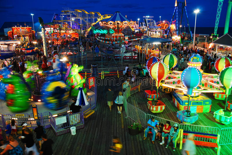 Seaside Amusements stock photo