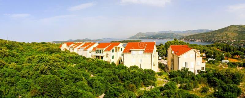 Seaside Apartments Royalty Free Stock Photo