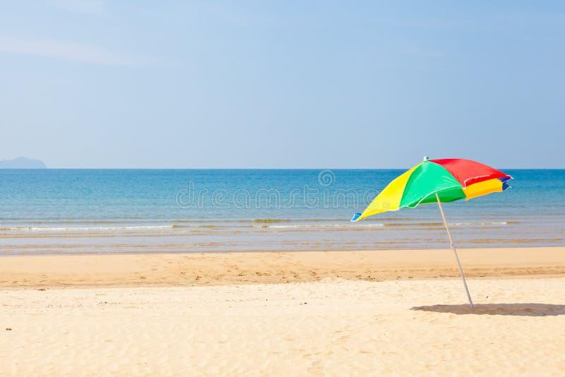 Download Seaside beach umbrella stock photo. Image of idyllic - 26644462