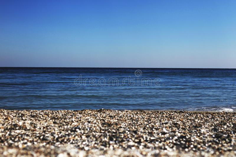 Seaside of the Black Sea, Odessa royalty free stock photos