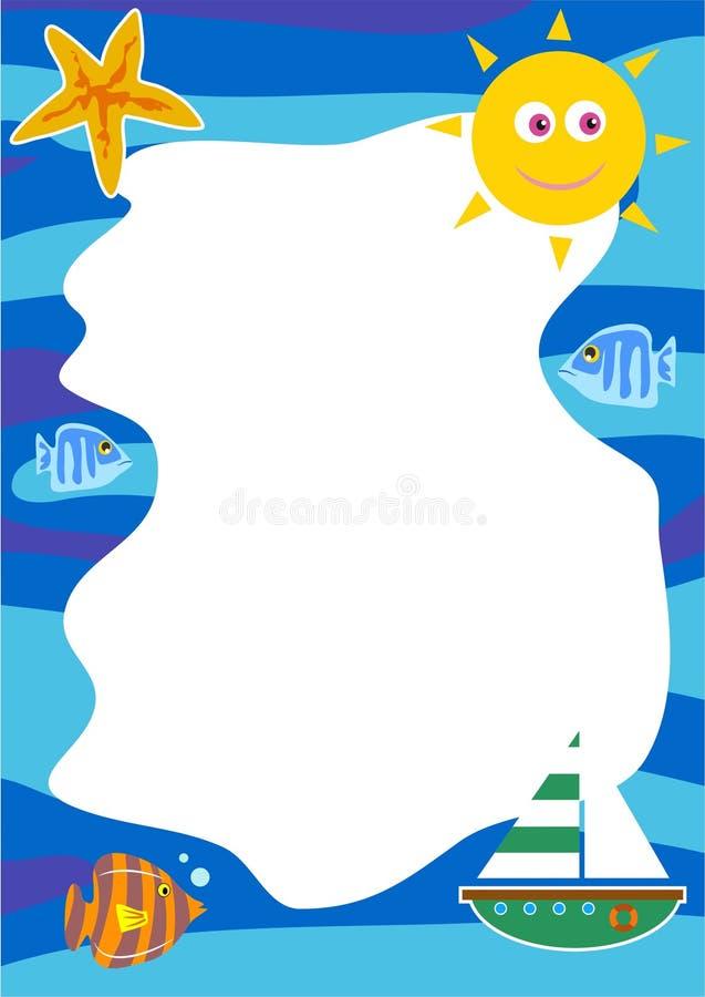 Seaside Border stock illustration