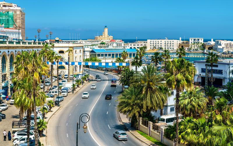 Seaside boulevard in Algiers, the capital of Algeria. North Africa royalty free stock image