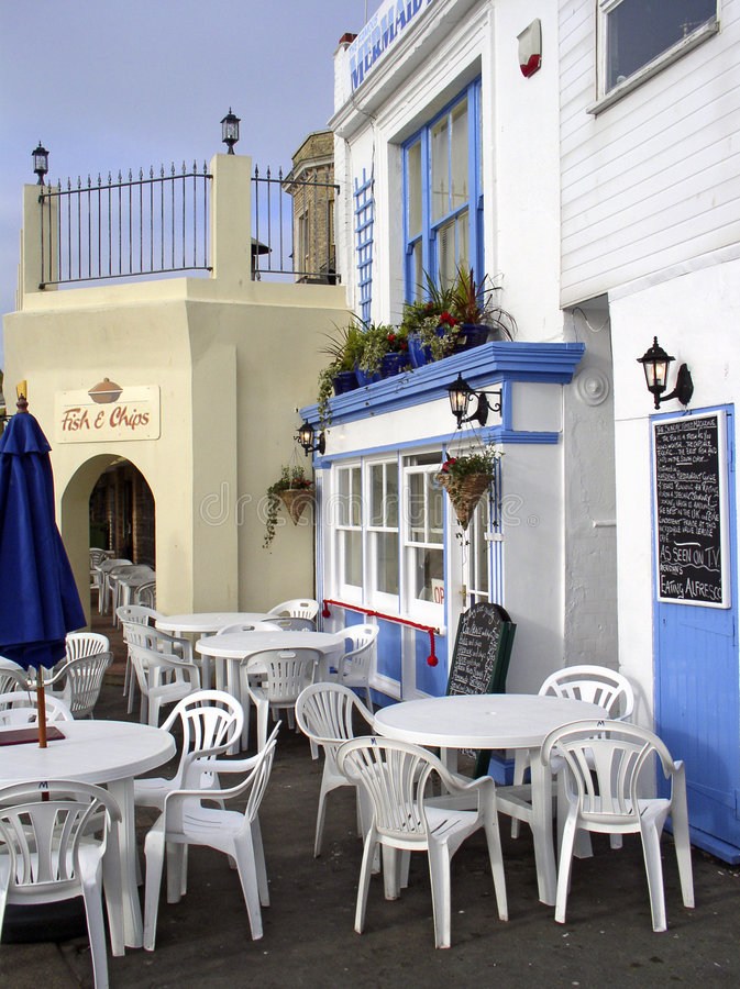 Seaside cafe royalty free stock images