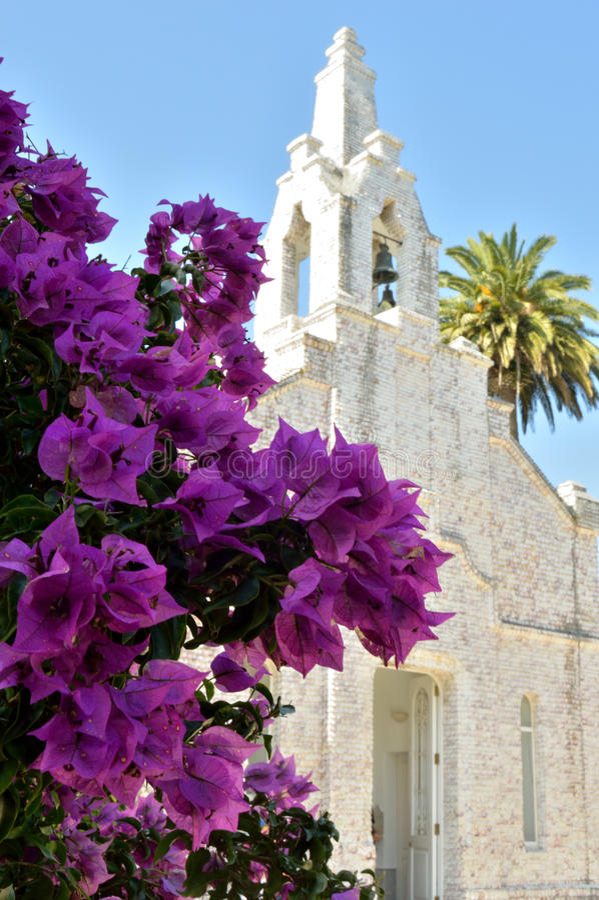 Seaside chapel on the island of La Toja royalty free stock photos