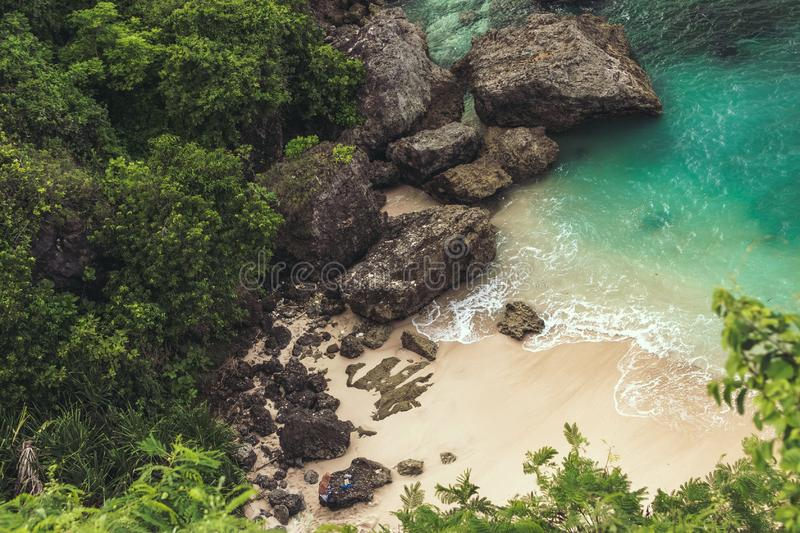 Seaside coke rock royalty free stock images