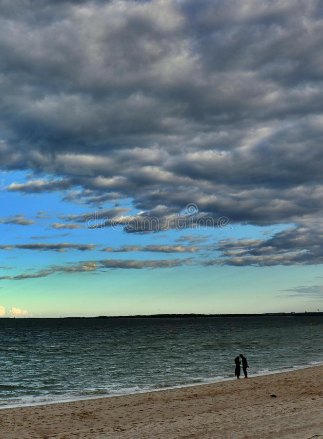 Seaside couple series -Brighton-Le-Sands Beach. Seaside couple series -Taken at Brighton-Le-Sands Beach, Sydney stock photography