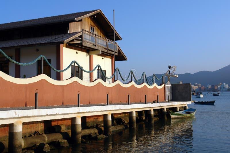 Seaside dock restaurant royalty free stock photos