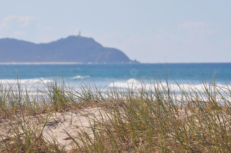 Download Seaside Grass With Surf And Lighthouse Stock Image - Image: 11394095