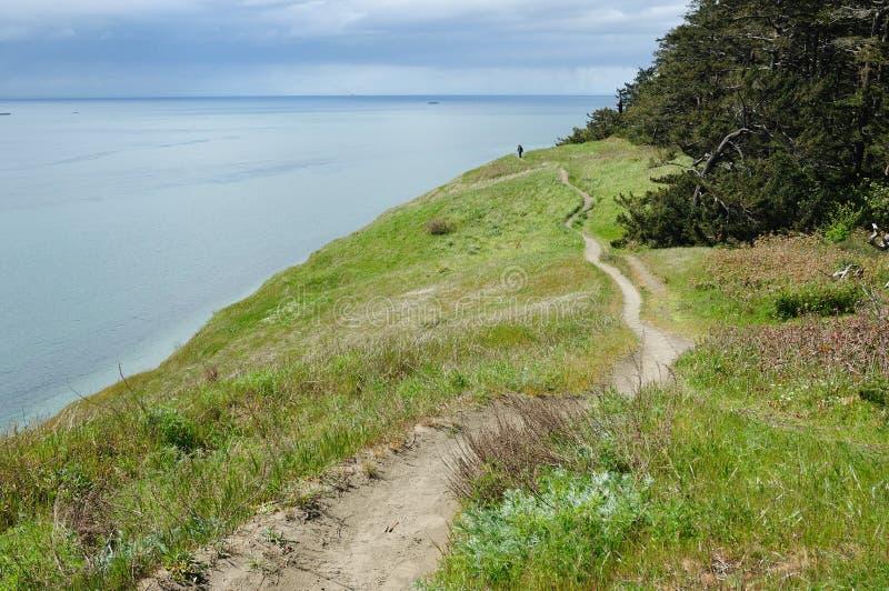Seaside hiking trail royalty free stock image
