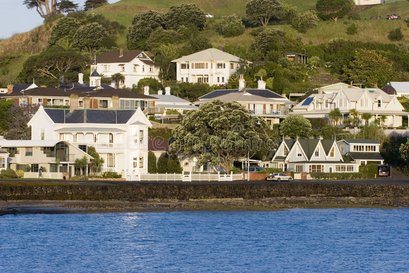 Seaside Homes royalty free stock photos