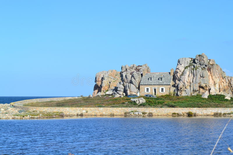 Seaside house, France royalty free stock photos