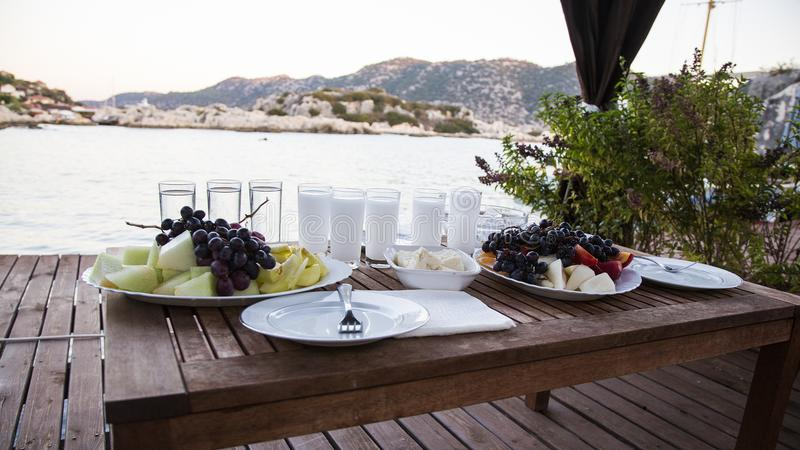 Seaside kekova in Turkey, holiday place, fish and raki. Seaside kekova in Turkey, holiday place, a great place for holidays and natural beauty, fish and raki royalty free stock photography