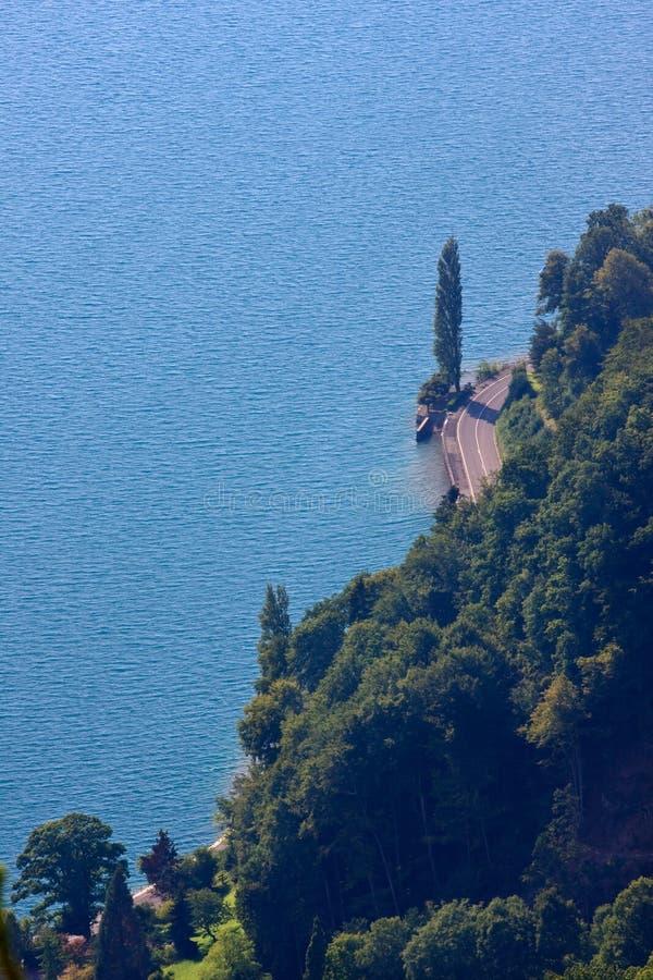 Seaside Lake Thun royalty free stock photo