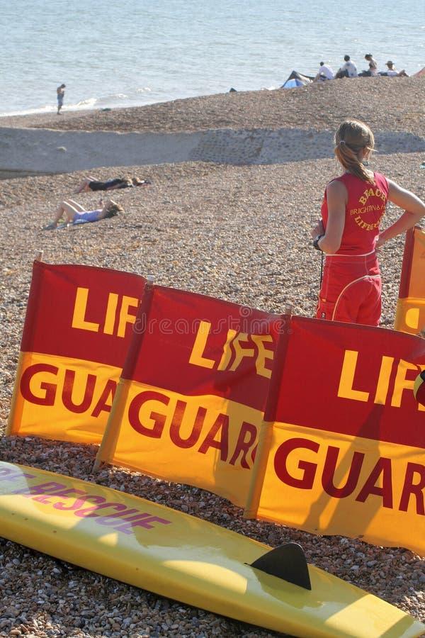 Seaside lifeguard stock image