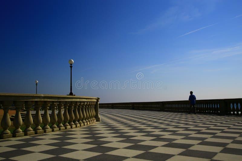 Seaside in Livorno, Italy royalty free stock image