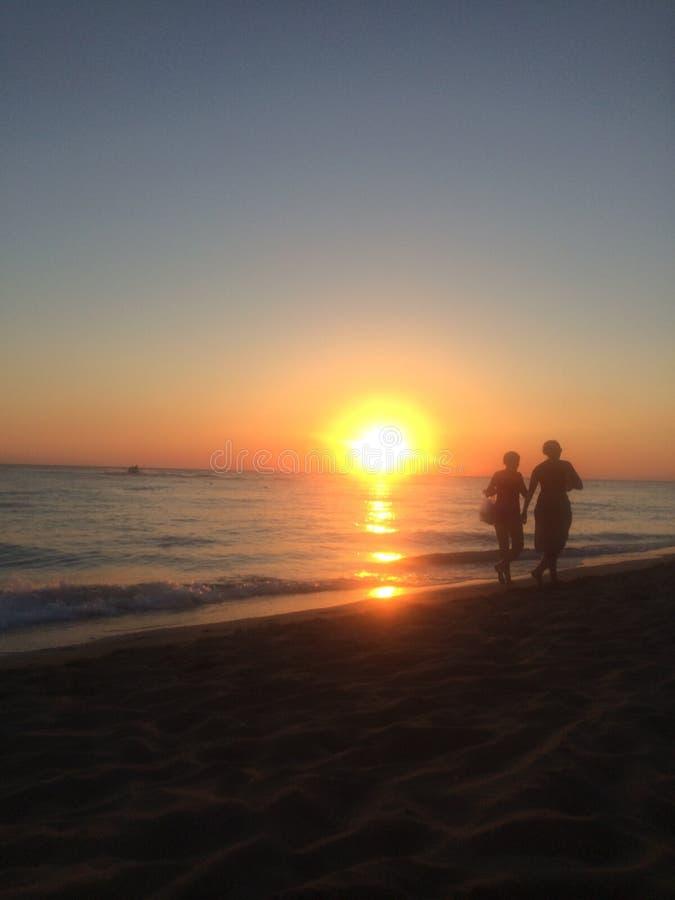 Seaside in love stock image