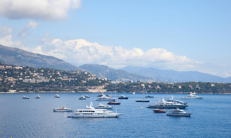 Seaside,Monaco. Monaco, one of the most beautiful cities royalty free stock image