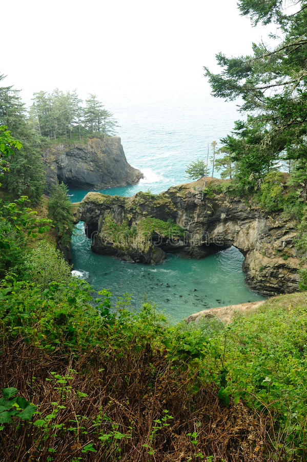 Seaside Natural Rock Bridge Stock Photography