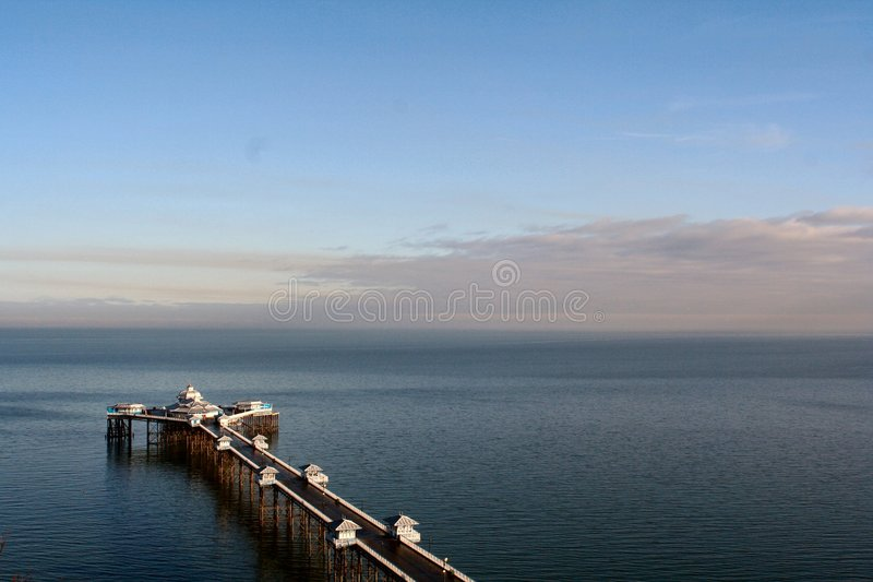 Seaside pier royalty free stock images