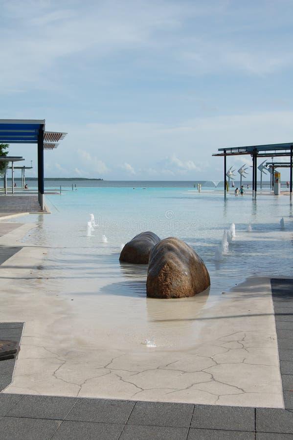 Seaside pool royalty free stock images