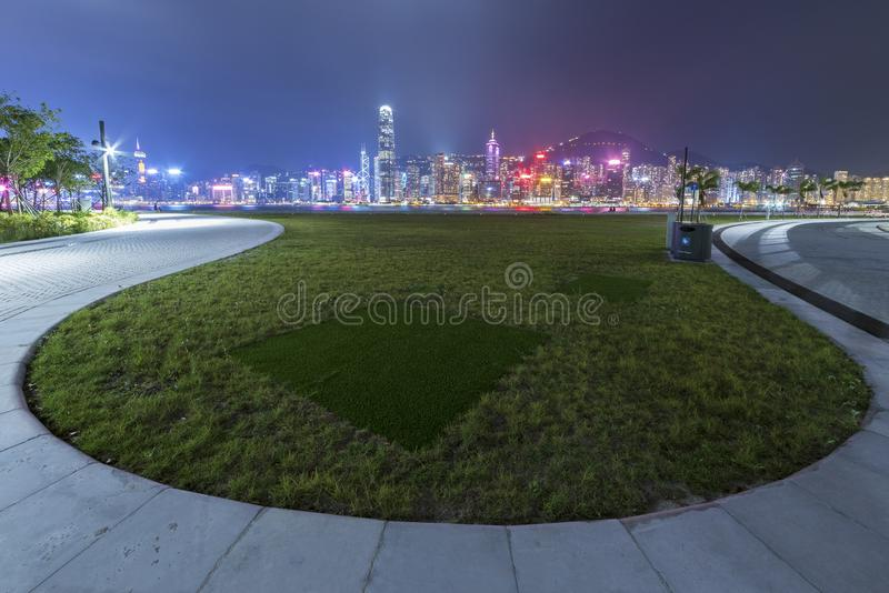 Public park in Hong Kong city royalty free stock images