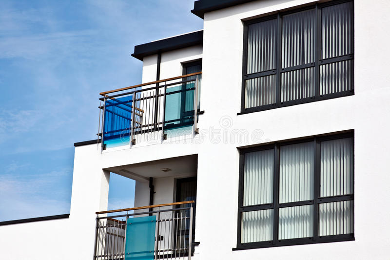 Download Seaside flats stock image. Image of balcony, constructed - 30995333