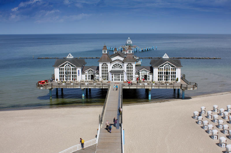 Seaside Resort Sellin stock image