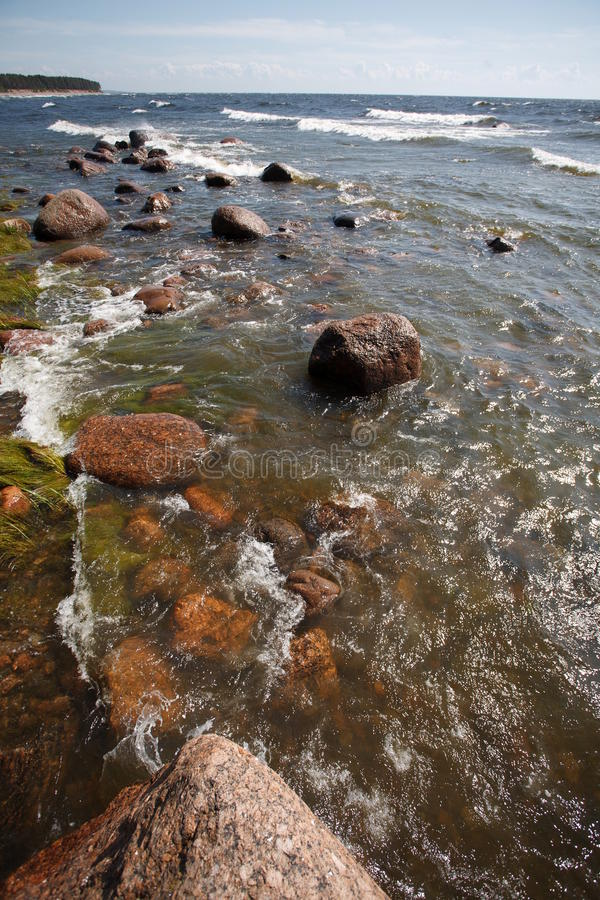 Download Seaside With Rocks And Waves Stock Image - Image: 20794591