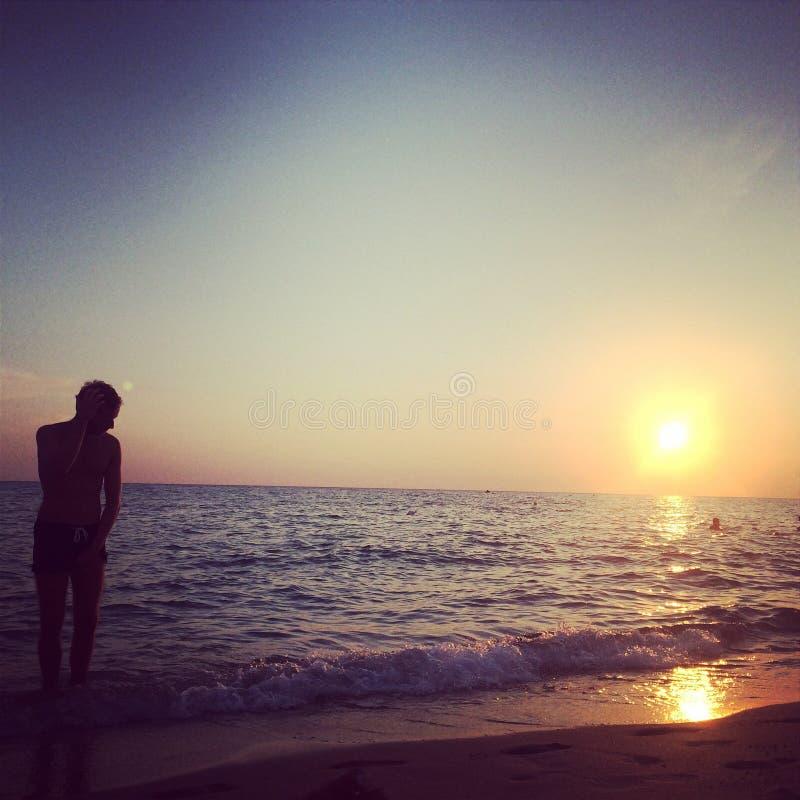 Seaside in Salento stock photography