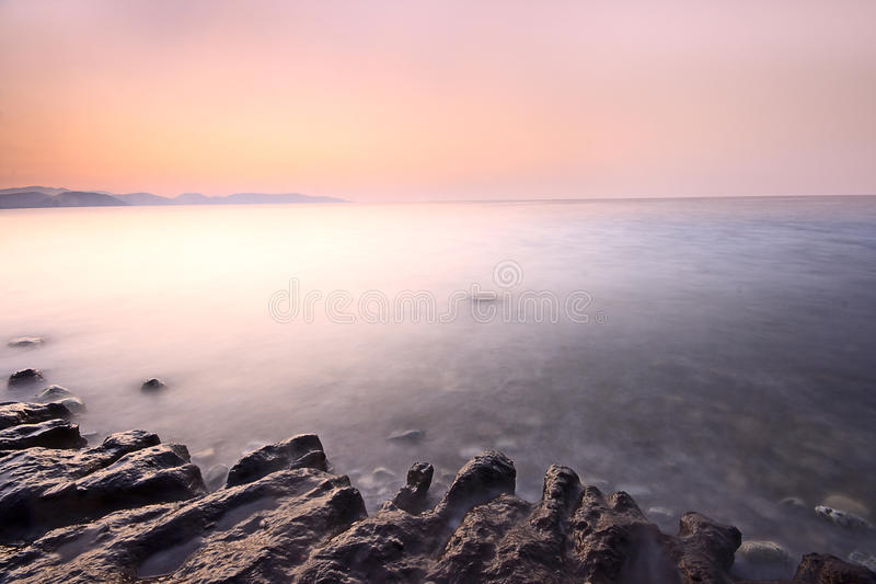 Download Seaside scene stock photo. Image of scenics, beach, loneliness - 15922548