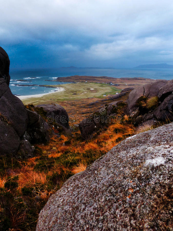 Seaside Scenery in the Scottish Highlands royalty free stock image