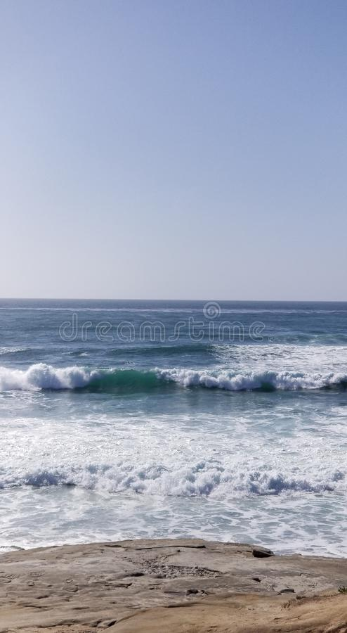Seaside Series - Pacific Ocean Waves royalty free stock images