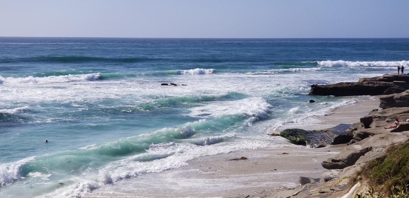 Seaside Series - Pacific Ocean Waves stock photography
