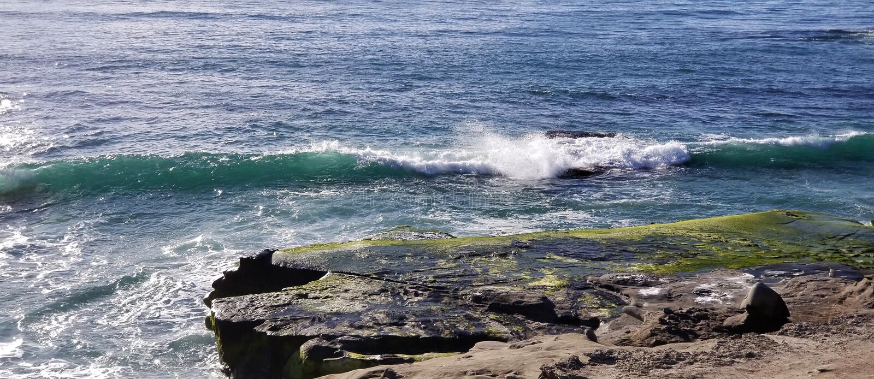 Seaside Series - Pacific Ocean Waves royalty free stock images
