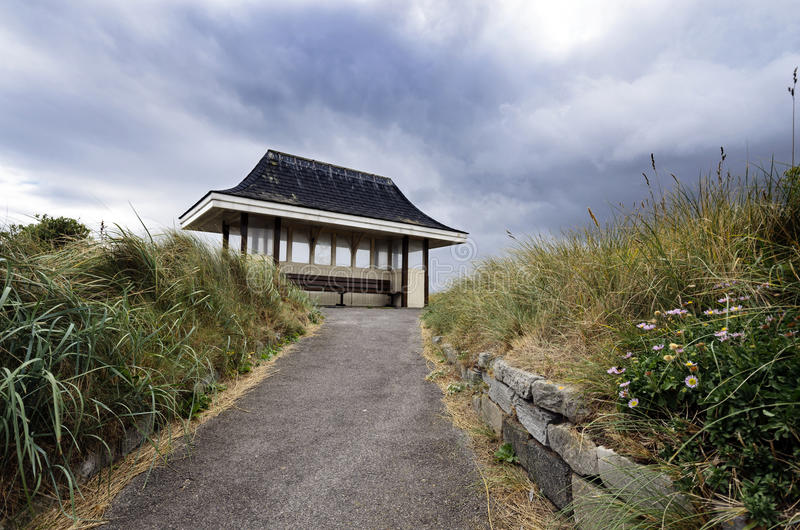 Download Seaside Shelter stock photo. Image of english, moody - 28714228