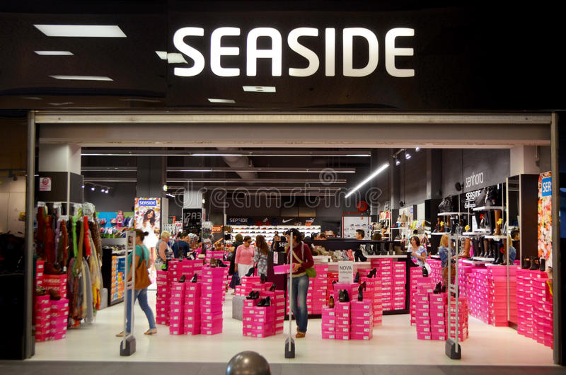 Download Seaside shoe store editorial photo. Image of boxes, slippers - 34350846